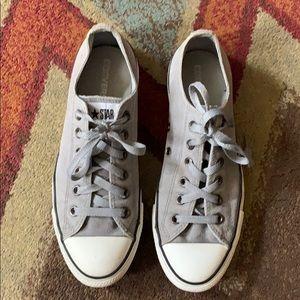 Converse Gray shoes men's size 8